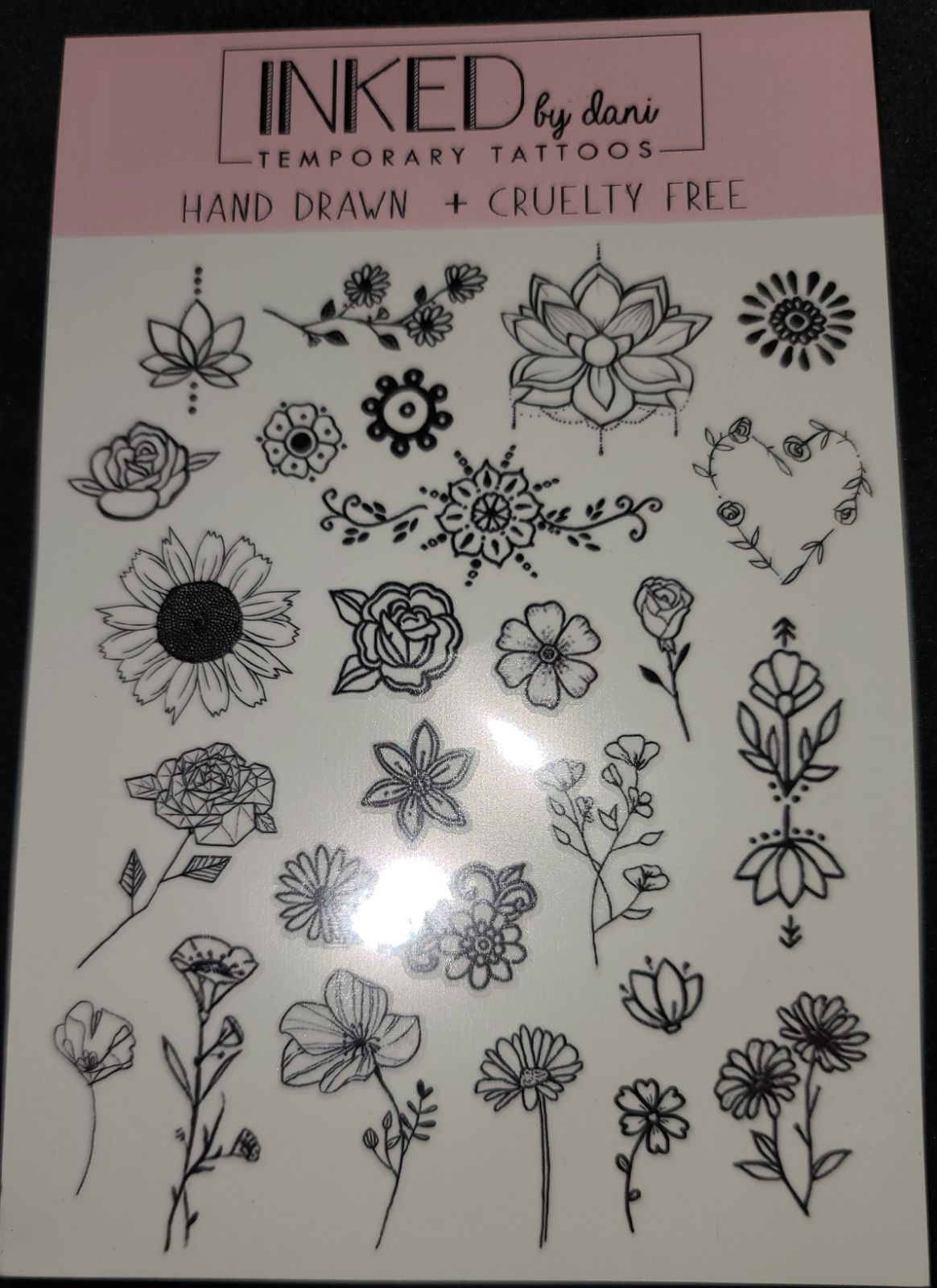 A pair of Inked by Dani Temp Tattoos (2!