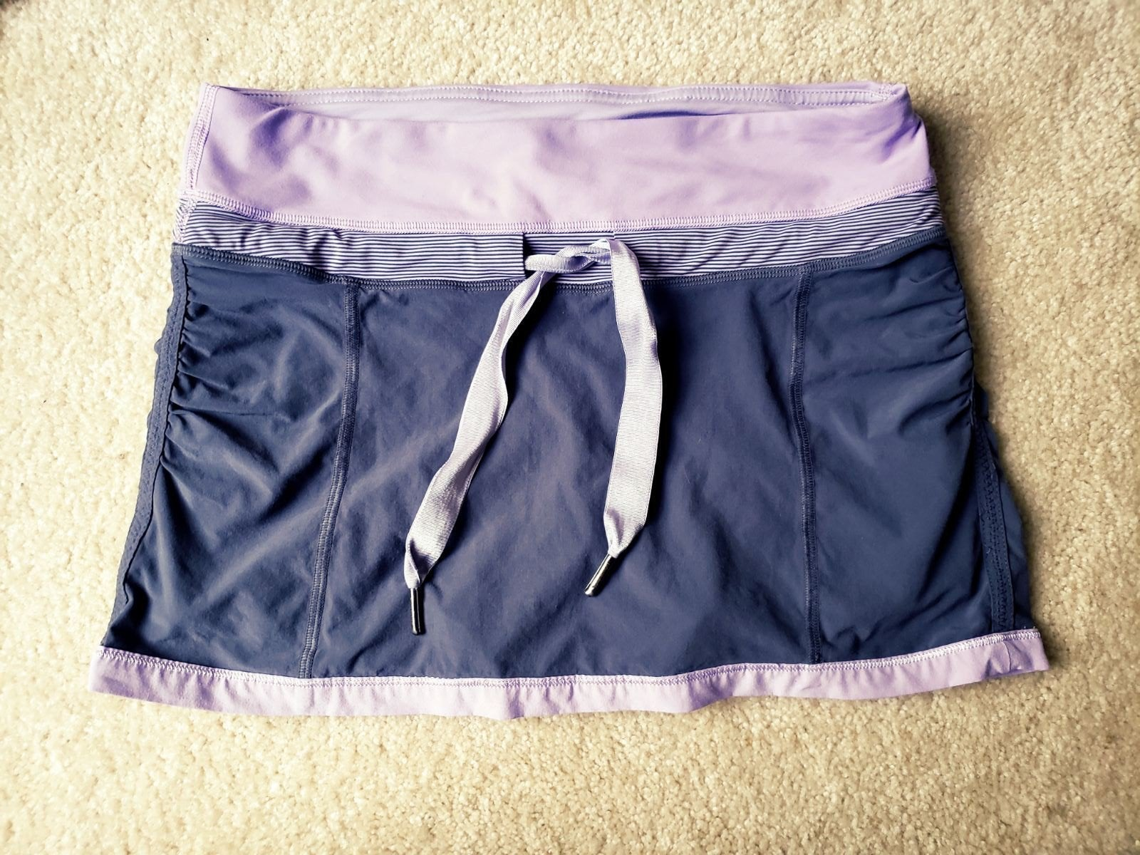 Lululemon Purple Grey Tennis Skirt Skort