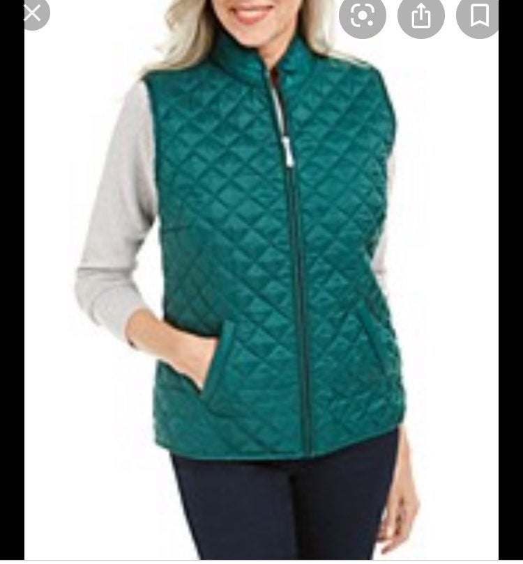 Karen Scott Sport Quilted Puffer Vest