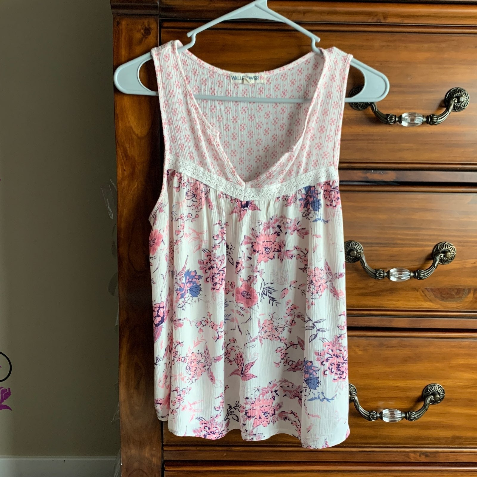 Tank top WALLFLOWER floral size L