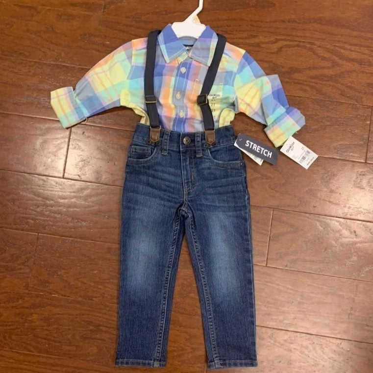Carters 3-Piece Button Up Outfit Set