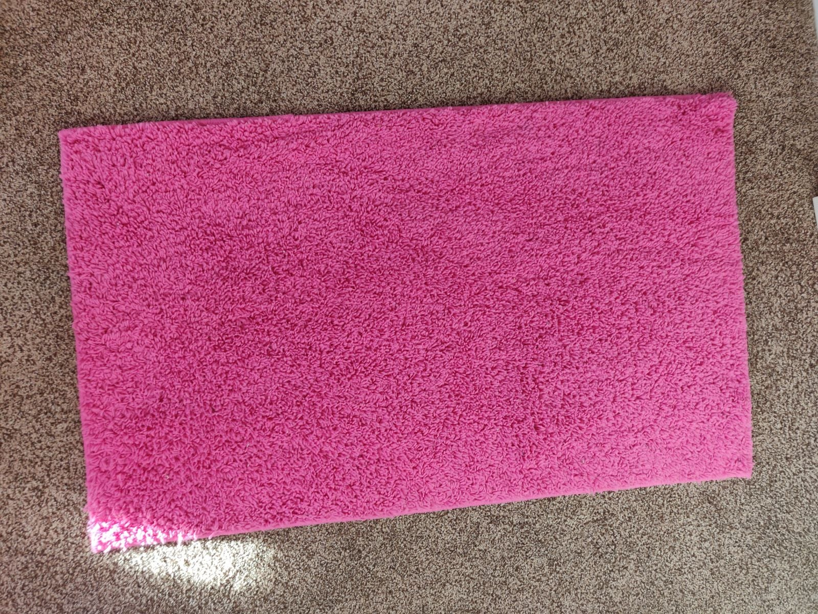 Pink Fuzzy Rug 3.5×2.5