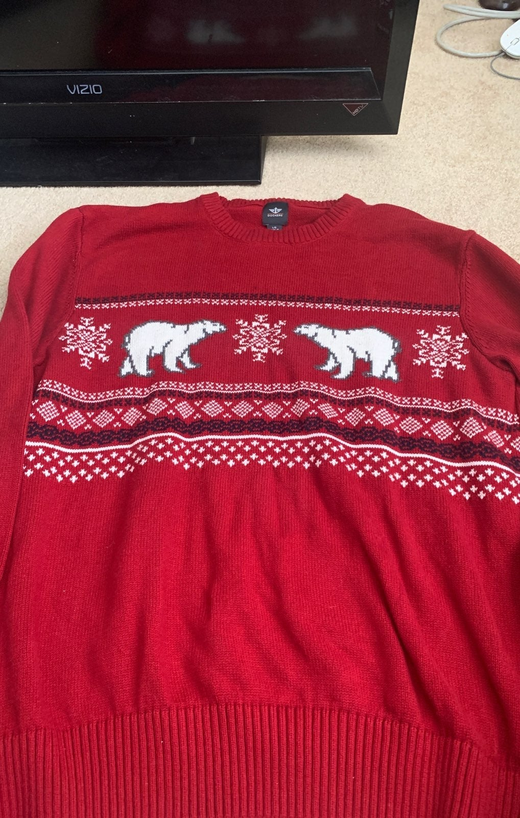 dockers  christmas sweater