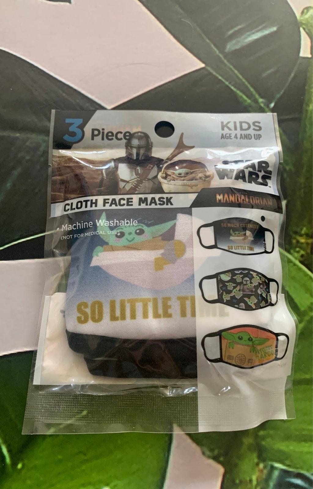 3 cloth star wars face masks