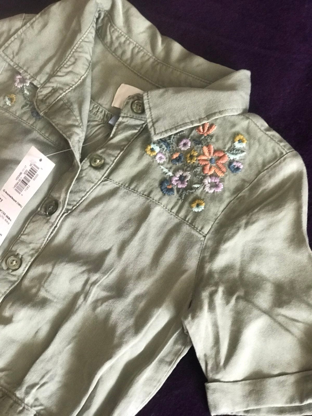 NWT Old Navy Olive Romper 3T