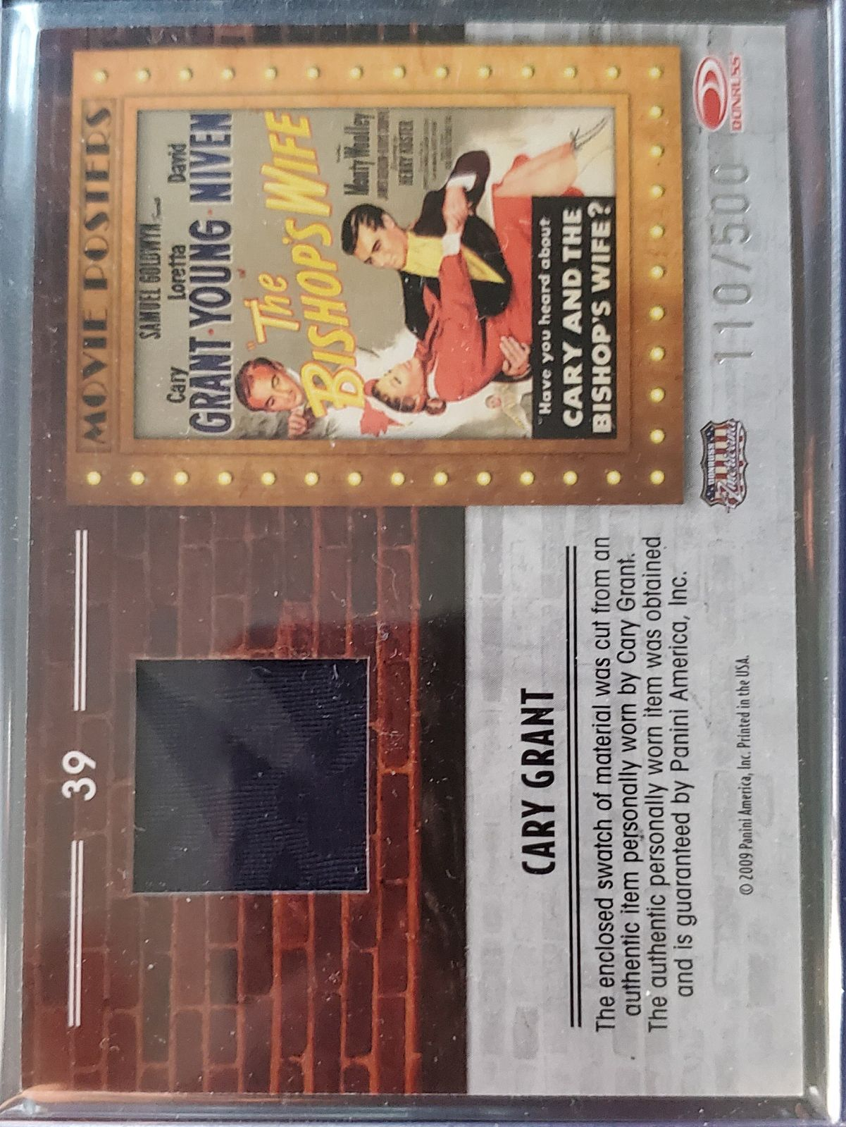 Cary Grant Relic Card