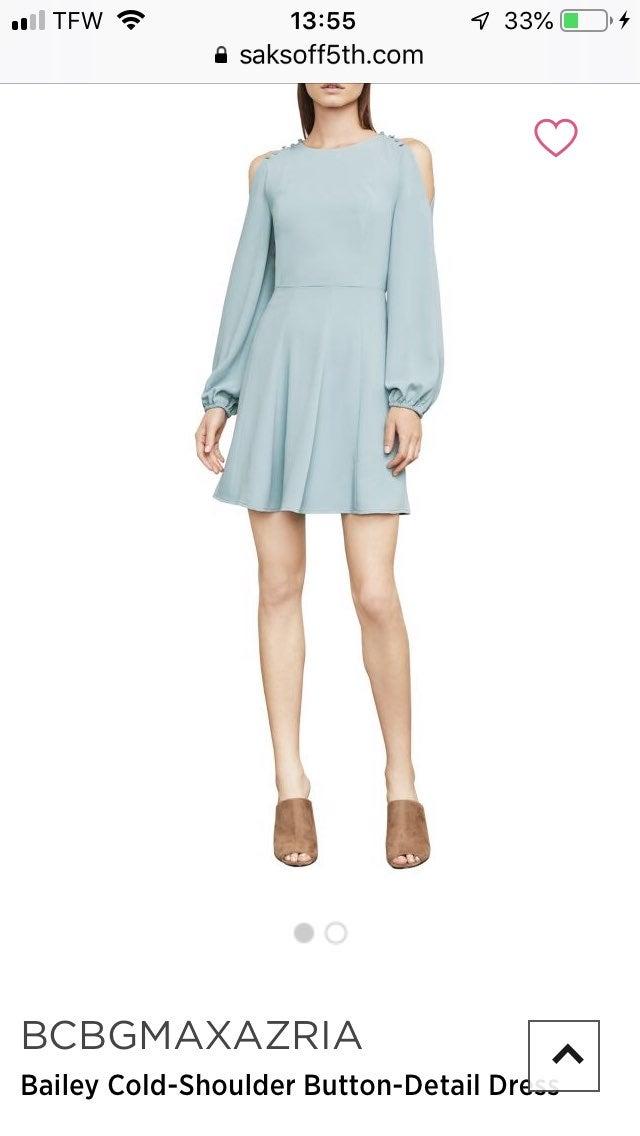 bcbg maxazria blue frost dress