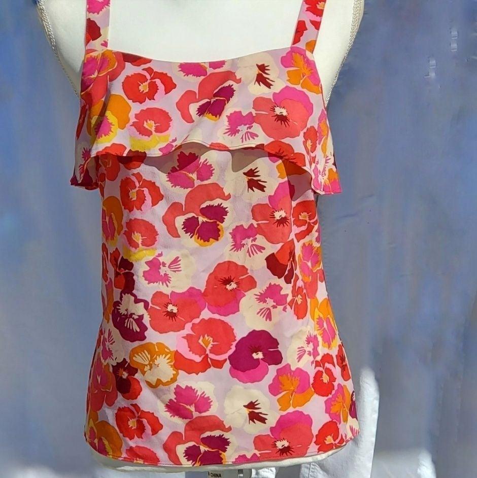 EUC Cute CABI Floral Summer Tank Top XS