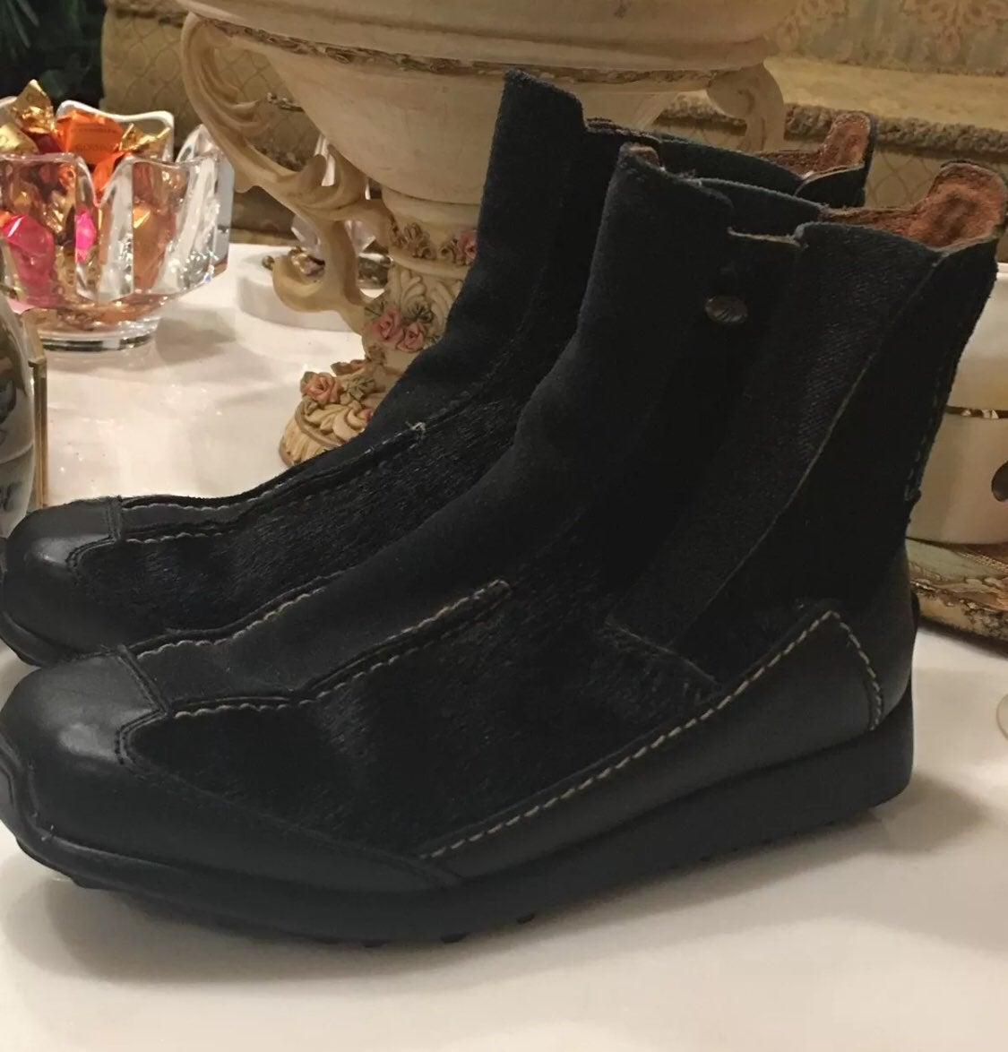 Tecnica Black Goat Fur  Boots