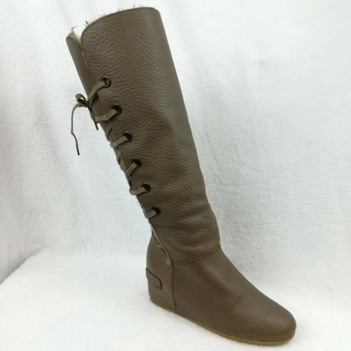 Bronx Women's Tall Leather Boots Size 6B