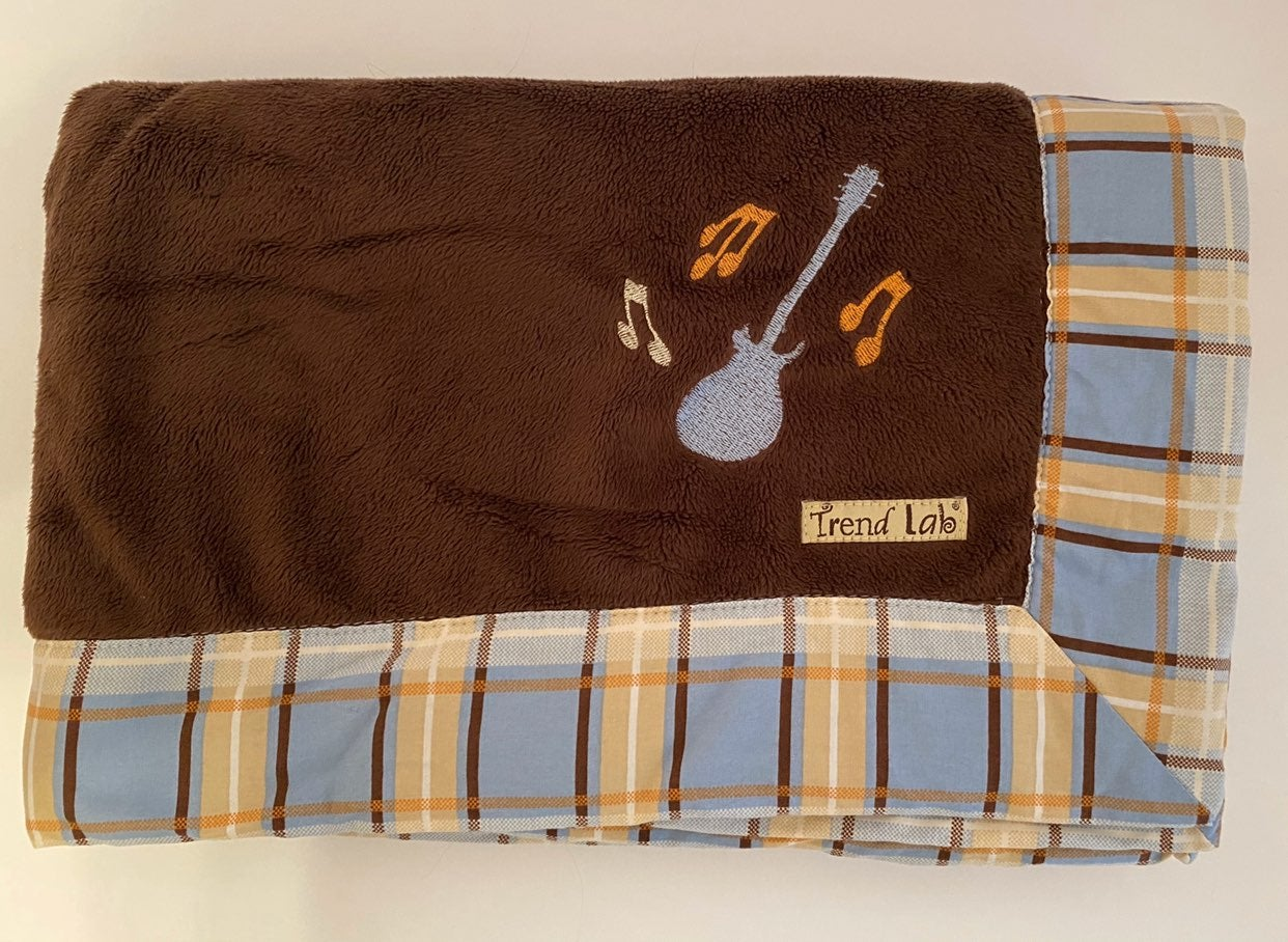 Trend Lab Guitar Baby Blanket Security