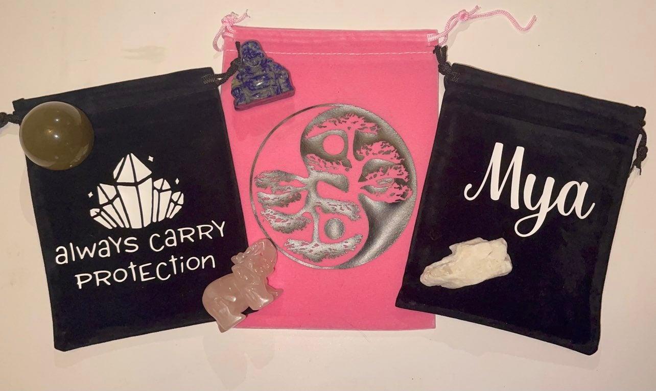 Custom tarot card/ crystal bags