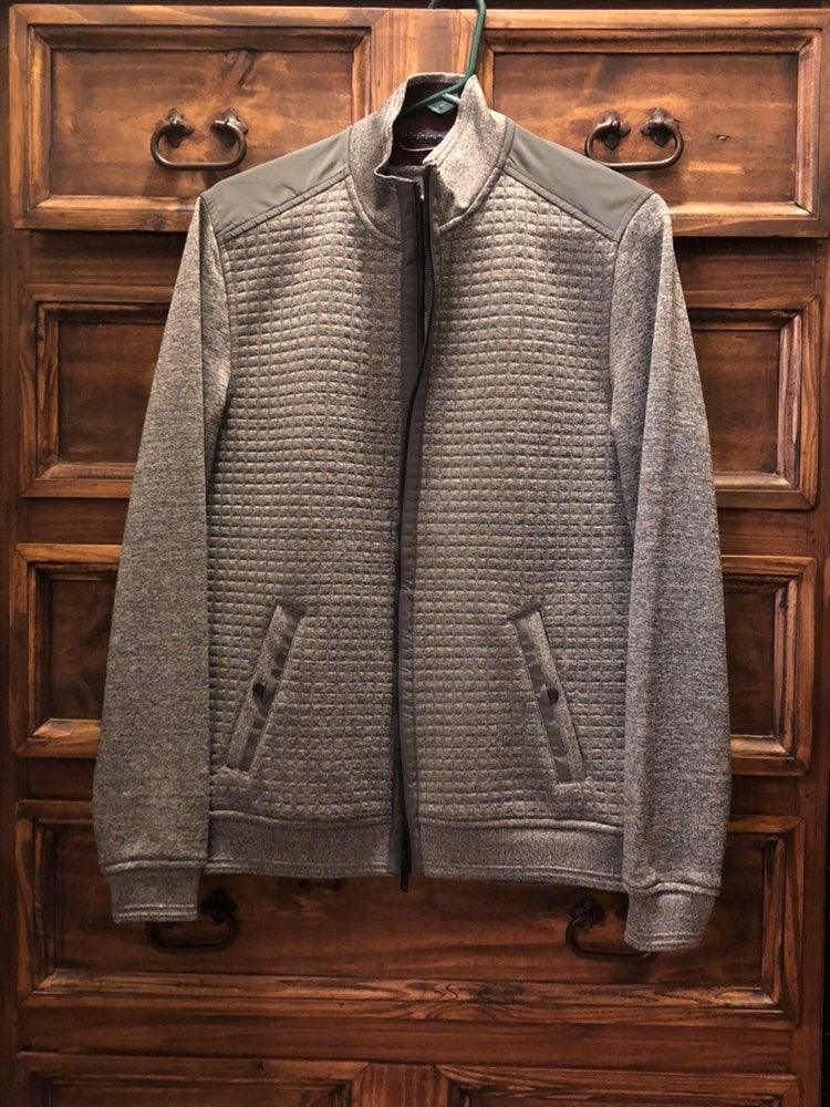 Ted Baker Men's Charcoal Quilted Jacket
