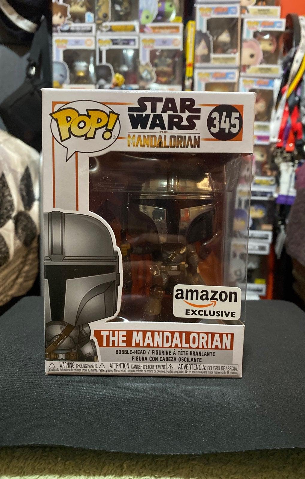 Mandalorian Chrome Funko Pop Amazon Exc