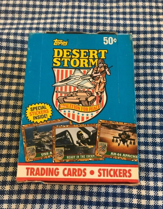 1991 Topps Desert Storm Wax Box