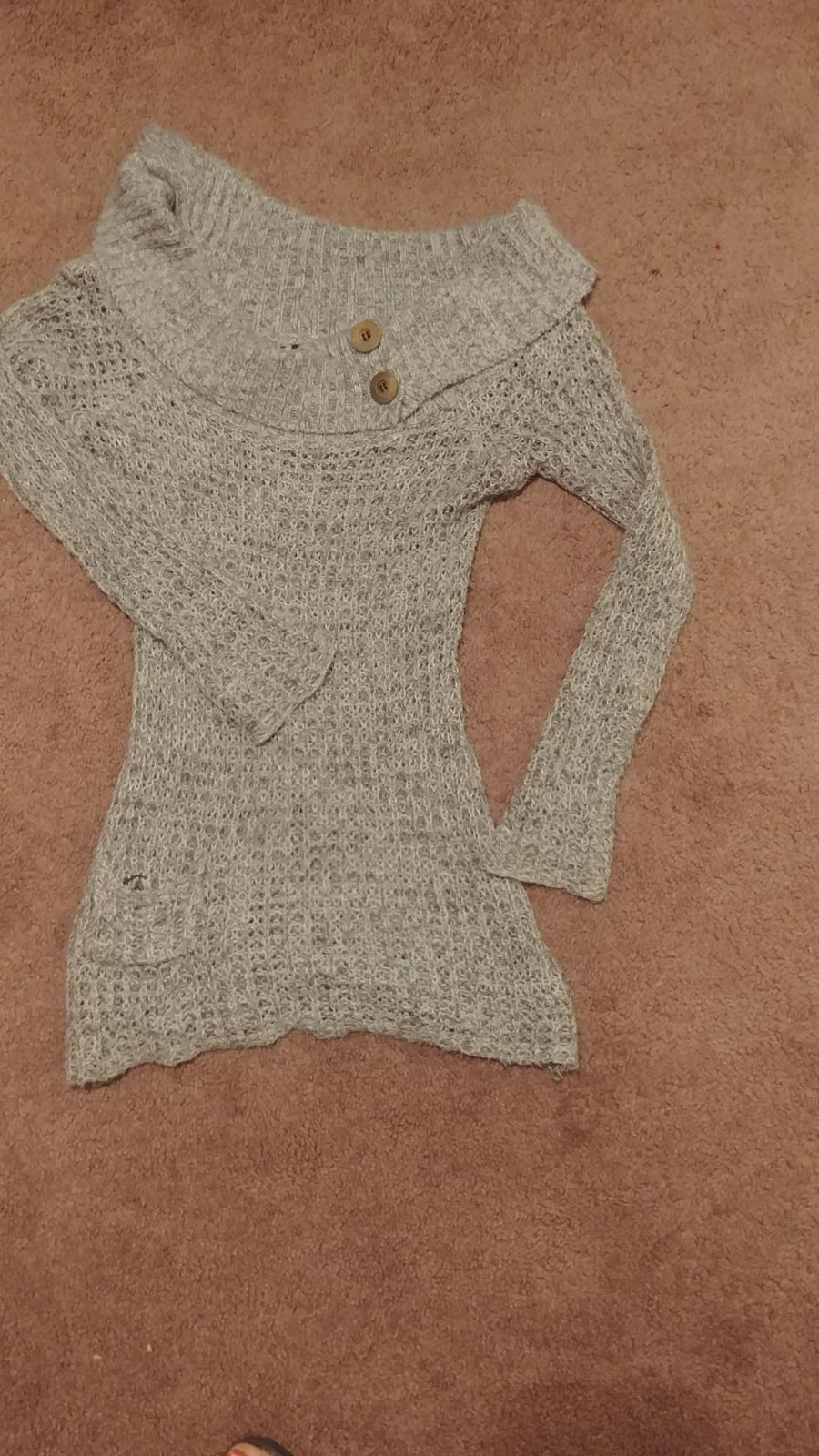 Wet seal XS knitted sweater gray