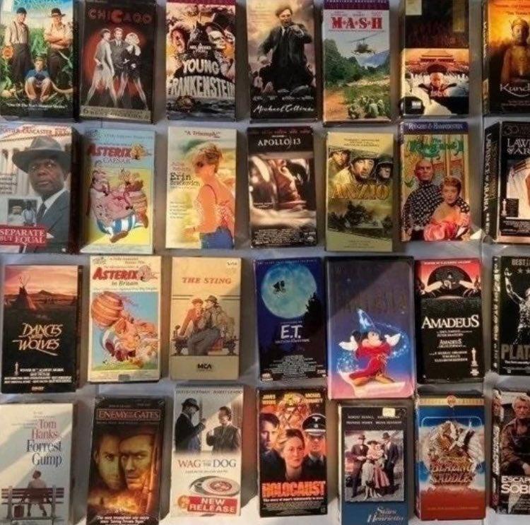 51 VHS Multi movie bundle pack. 25lbs
