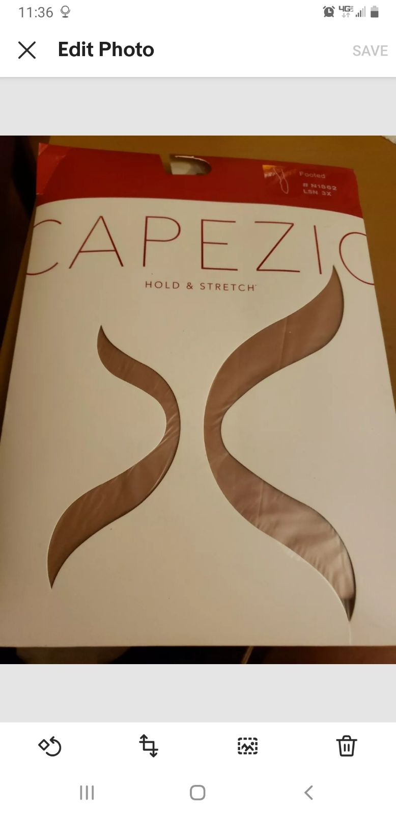 Capezio pantyhose 3X Footed color suntan