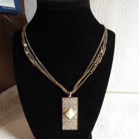 Jessica Simpson Crystal Pave Necklace