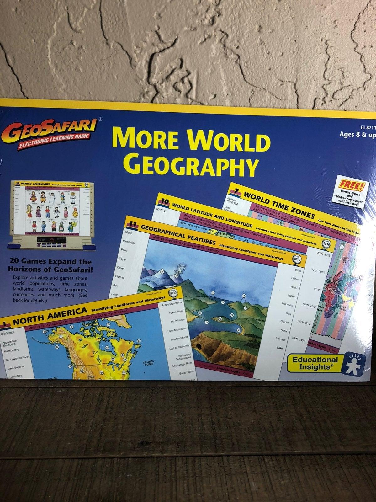 Geosafari more world geography set nee