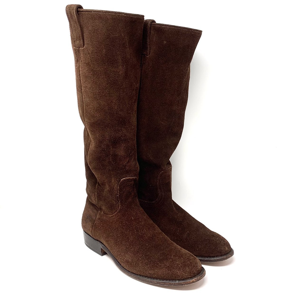 Frye Bari Slouch Suede Pull On Boots