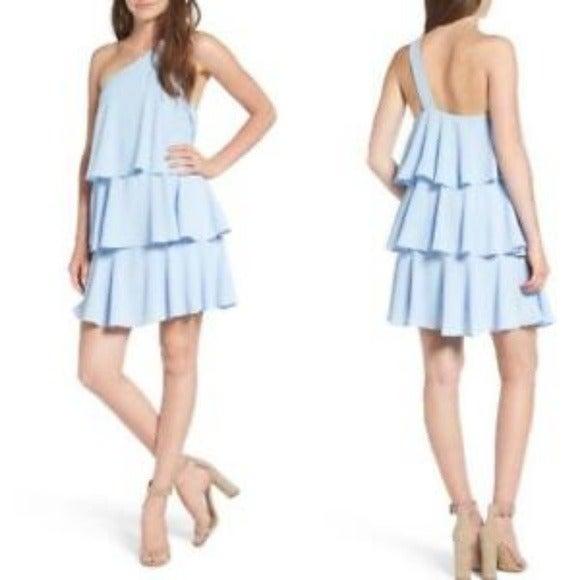 NWT LEITH BLUE RUFFLE mini dress XL