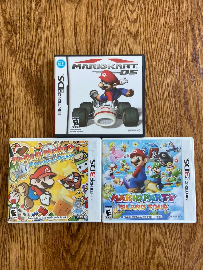 Mario Nintendo DS and 3DS games bundle