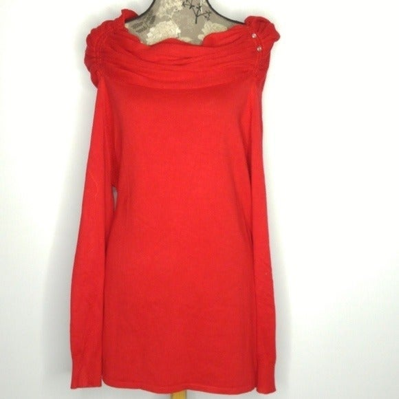 NWT Avenue Knit Top Sz 14/16 Red Off the