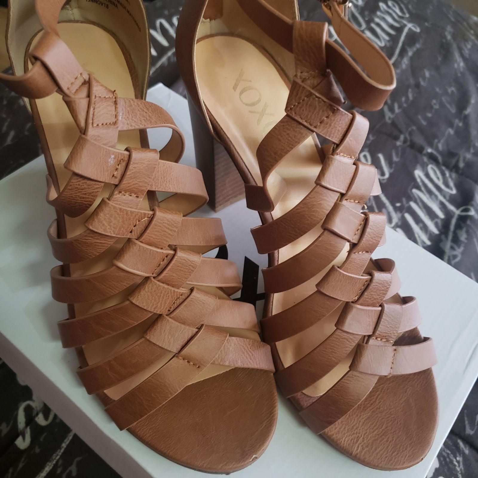 XOXO Brown Sandals