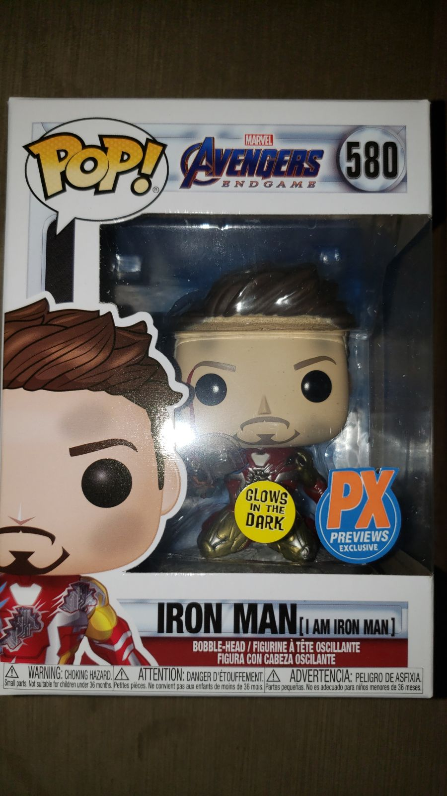 Funko Pop Avengers Iron Man Glow in the