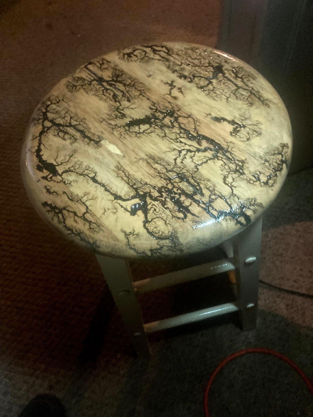 Fractal burned stool