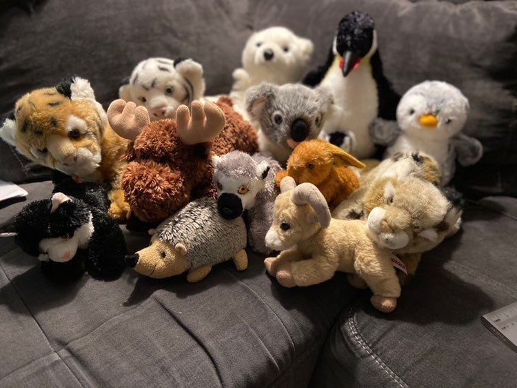 plush toy stuffed animal bundle lot 12