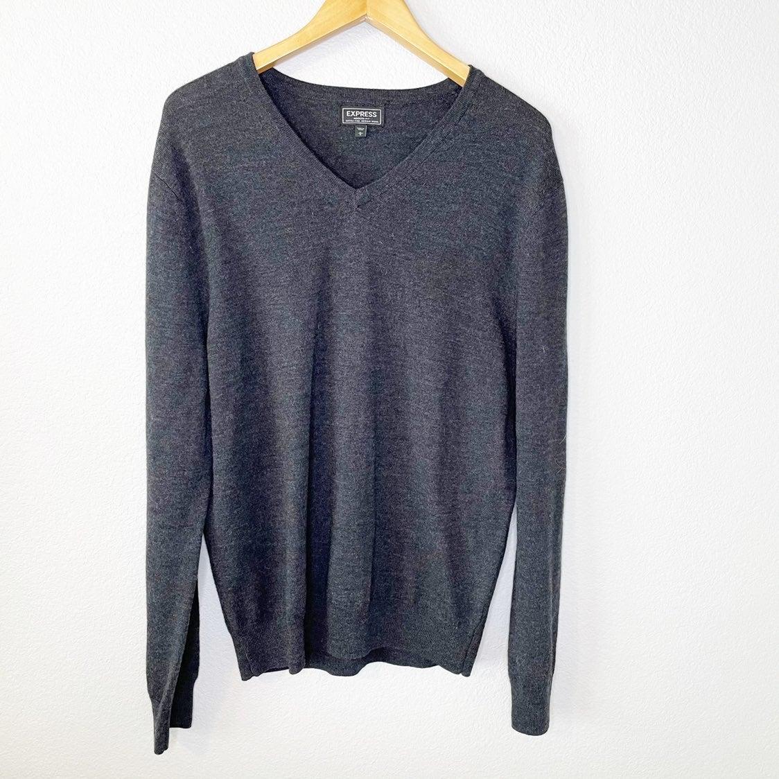Men's Express Gray Modern Fit Sweater