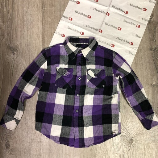 Boys Current Button Up Flannel Shirt