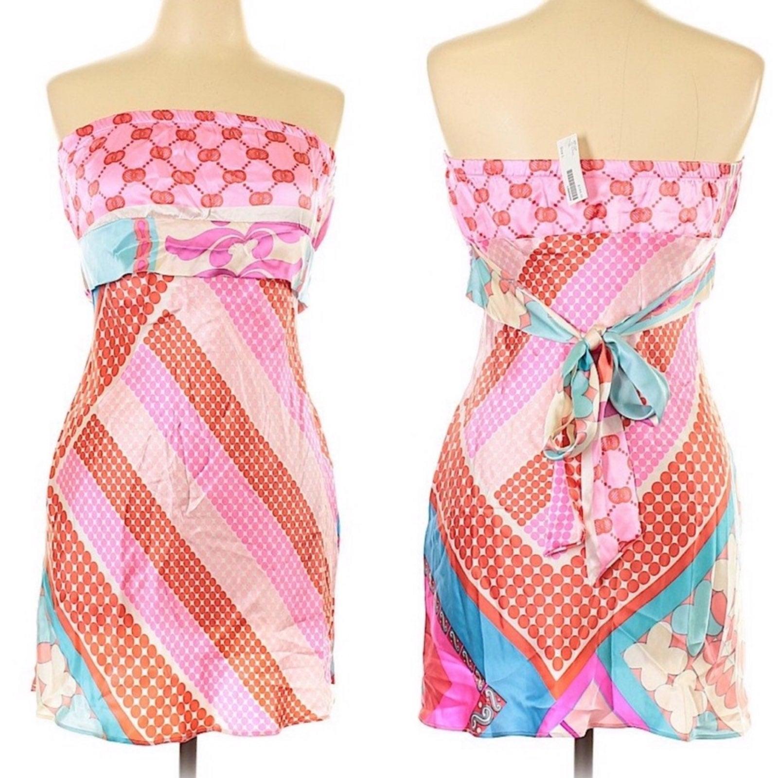 Alice & Trixie Silk Strapless Tunic Top