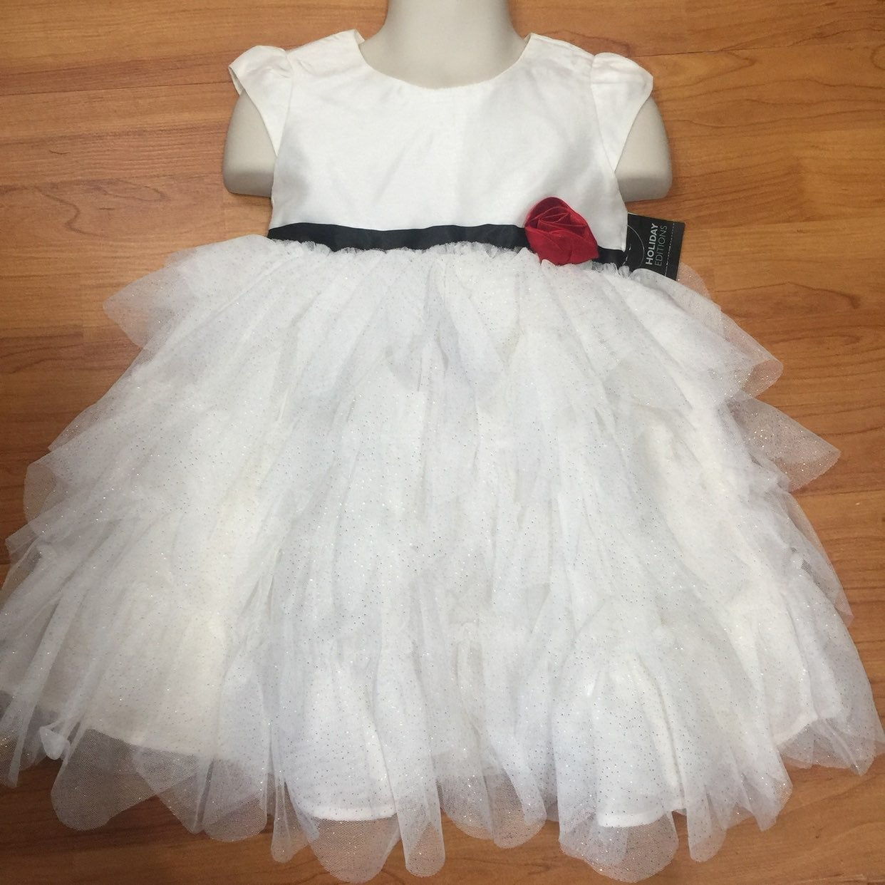 Girls Holiday Dress 18 Months Beige