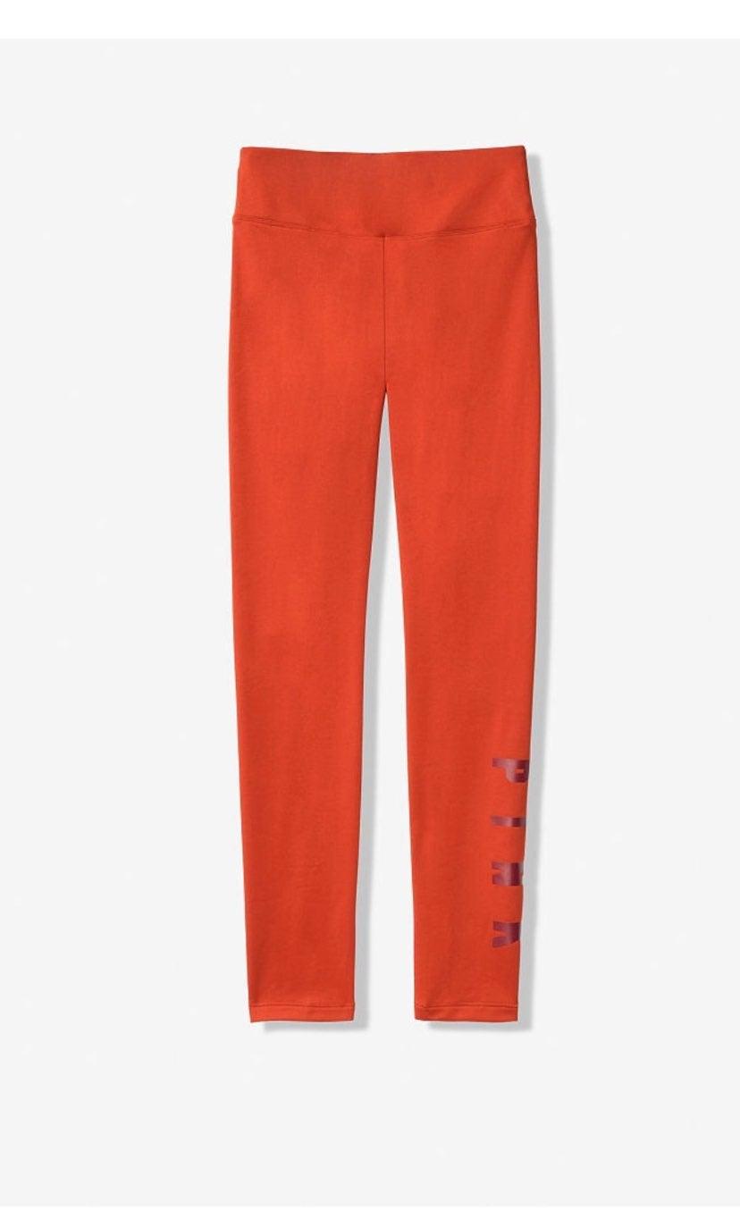 PINK highwaist fleece lined leggings