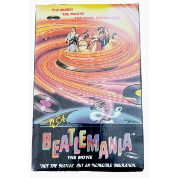 Vintage Beatlemania Movie VHS In Original Box 1981 Music Rock & Roll Collectible