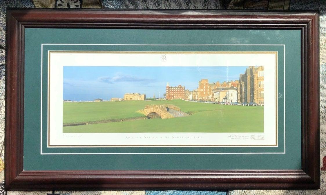 Vintage Framed St. Andrews Signed Litho