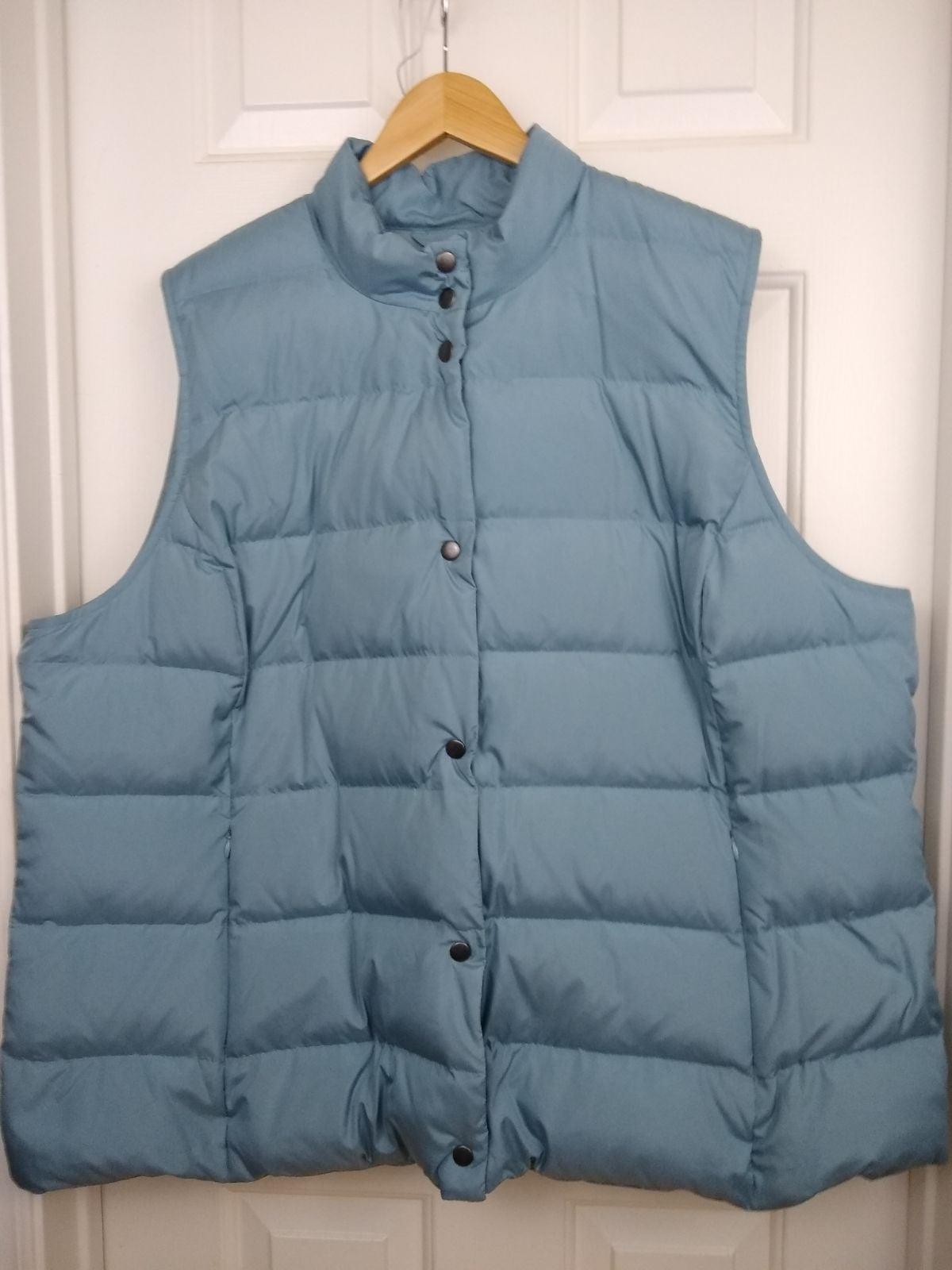J Jill Down Blue Puffer Vest 4X