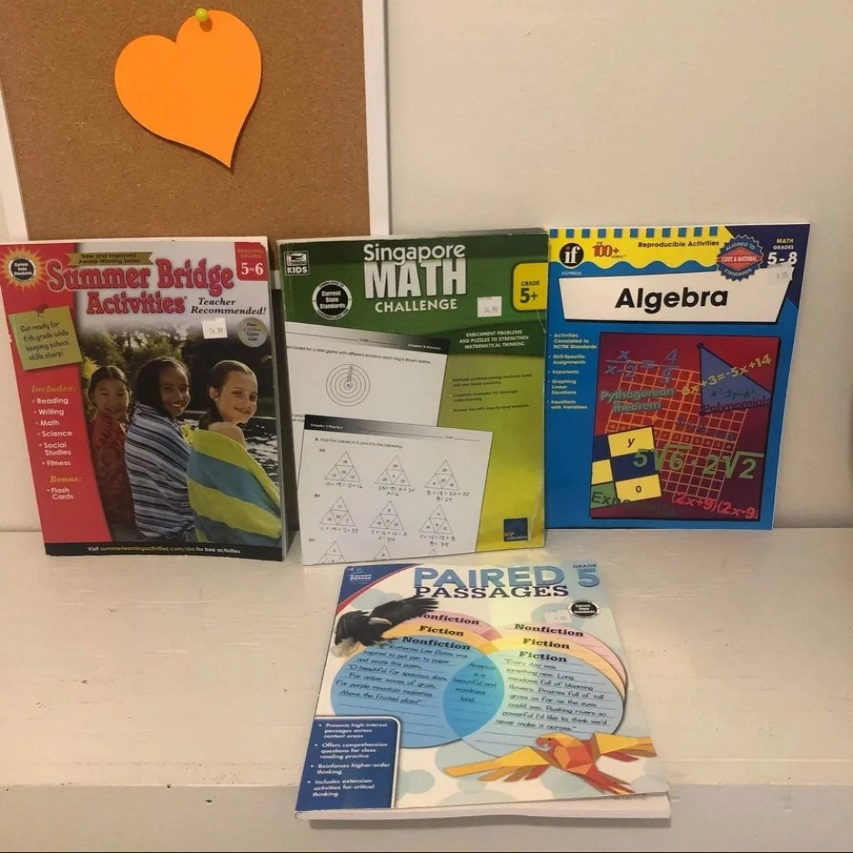 Fifth 5th grade home learning workbooks