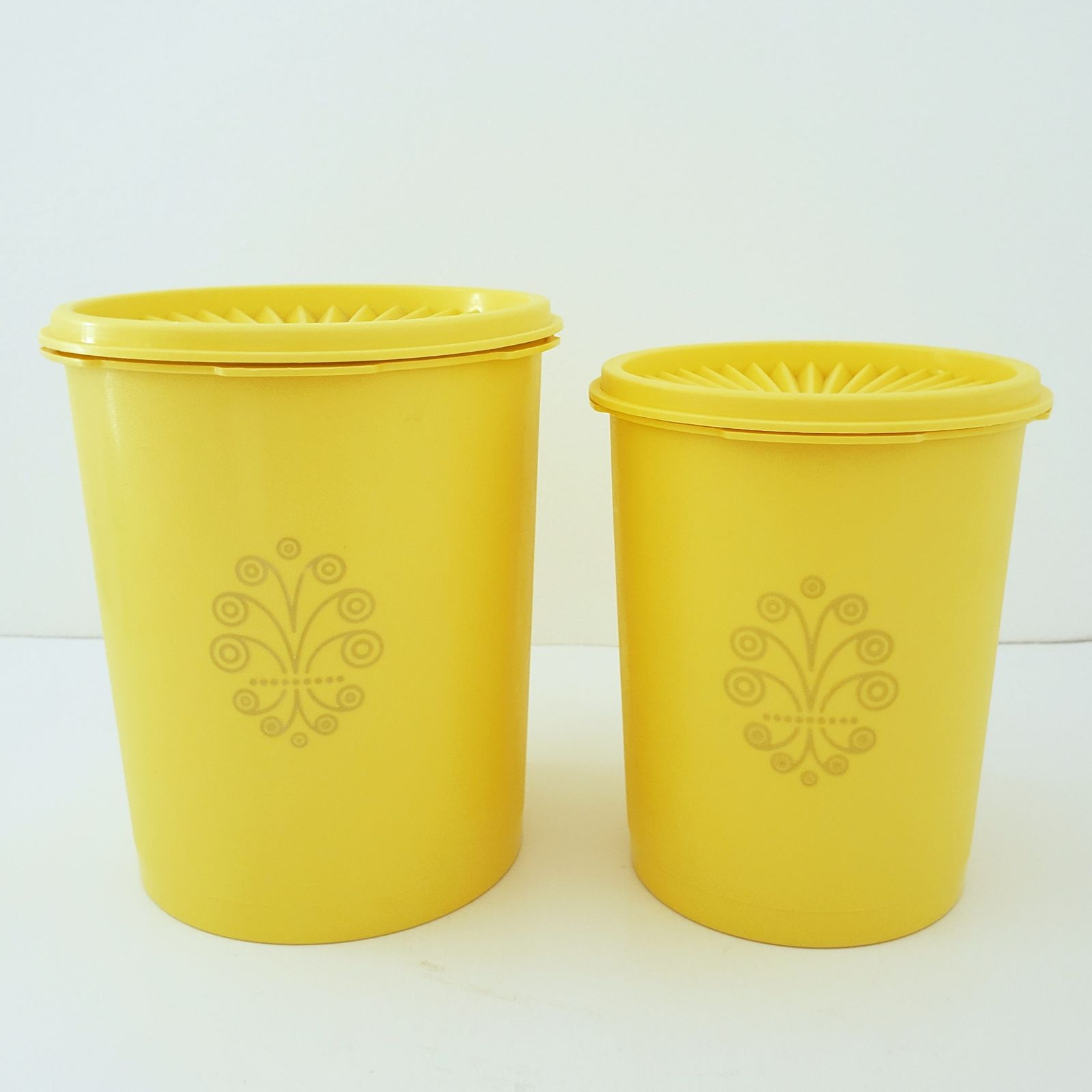 2 Vintage Tupperware Servalier Canisters
