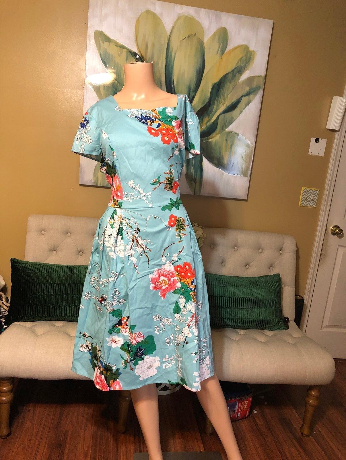 NWT Zaful floral dress 4X (runs small)