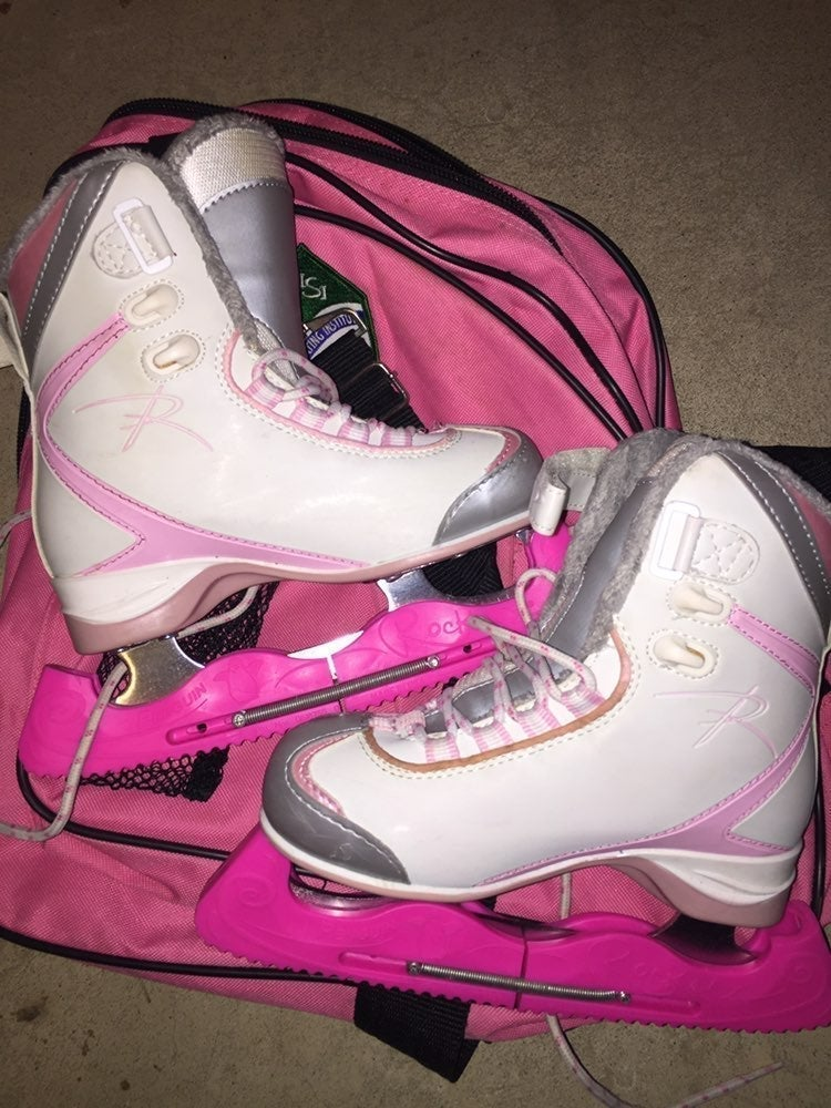Riedell Ice Skates Girls Size 1 w/Covers
