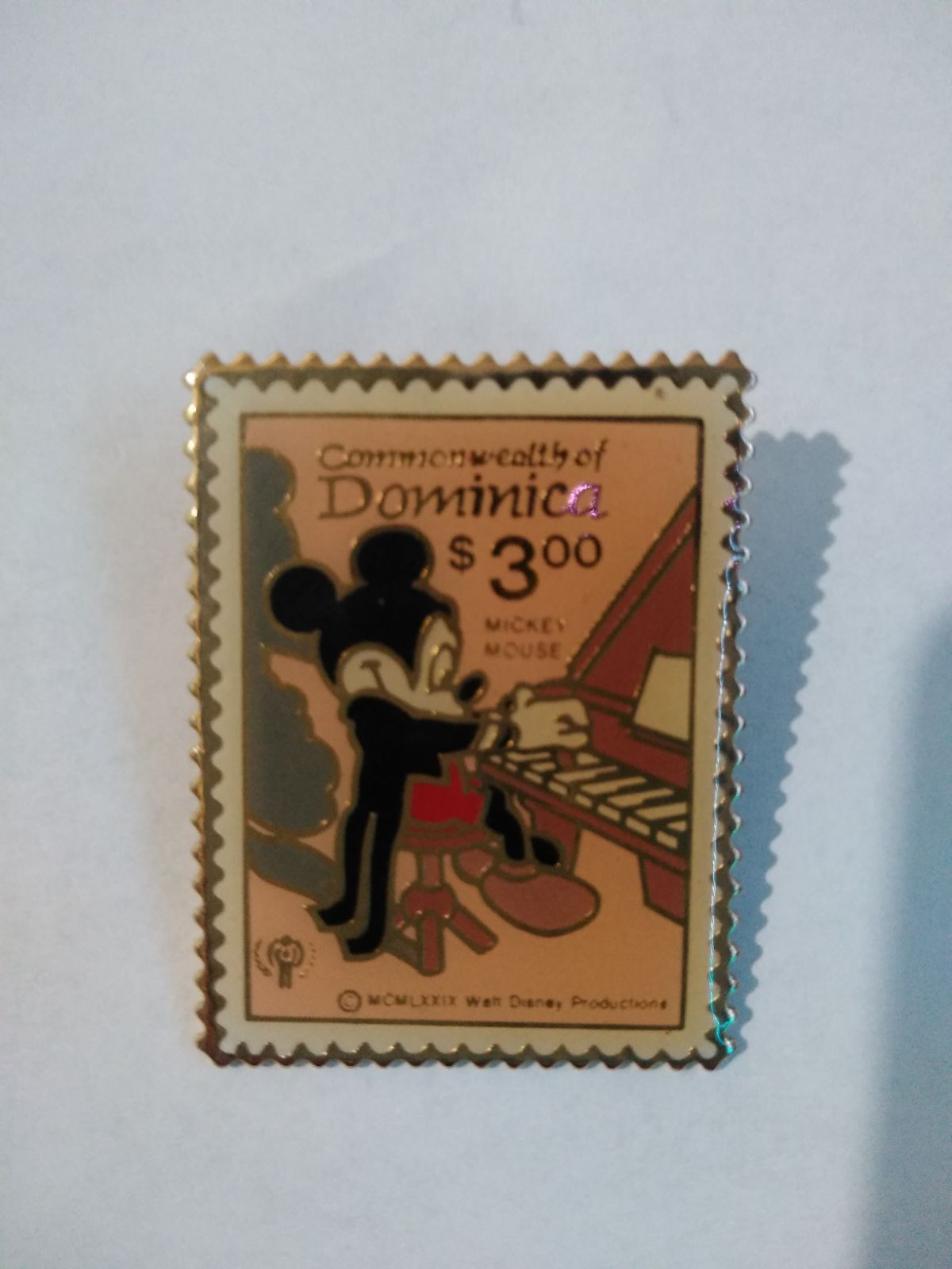 Commonwealth mickey mouse stamp pin