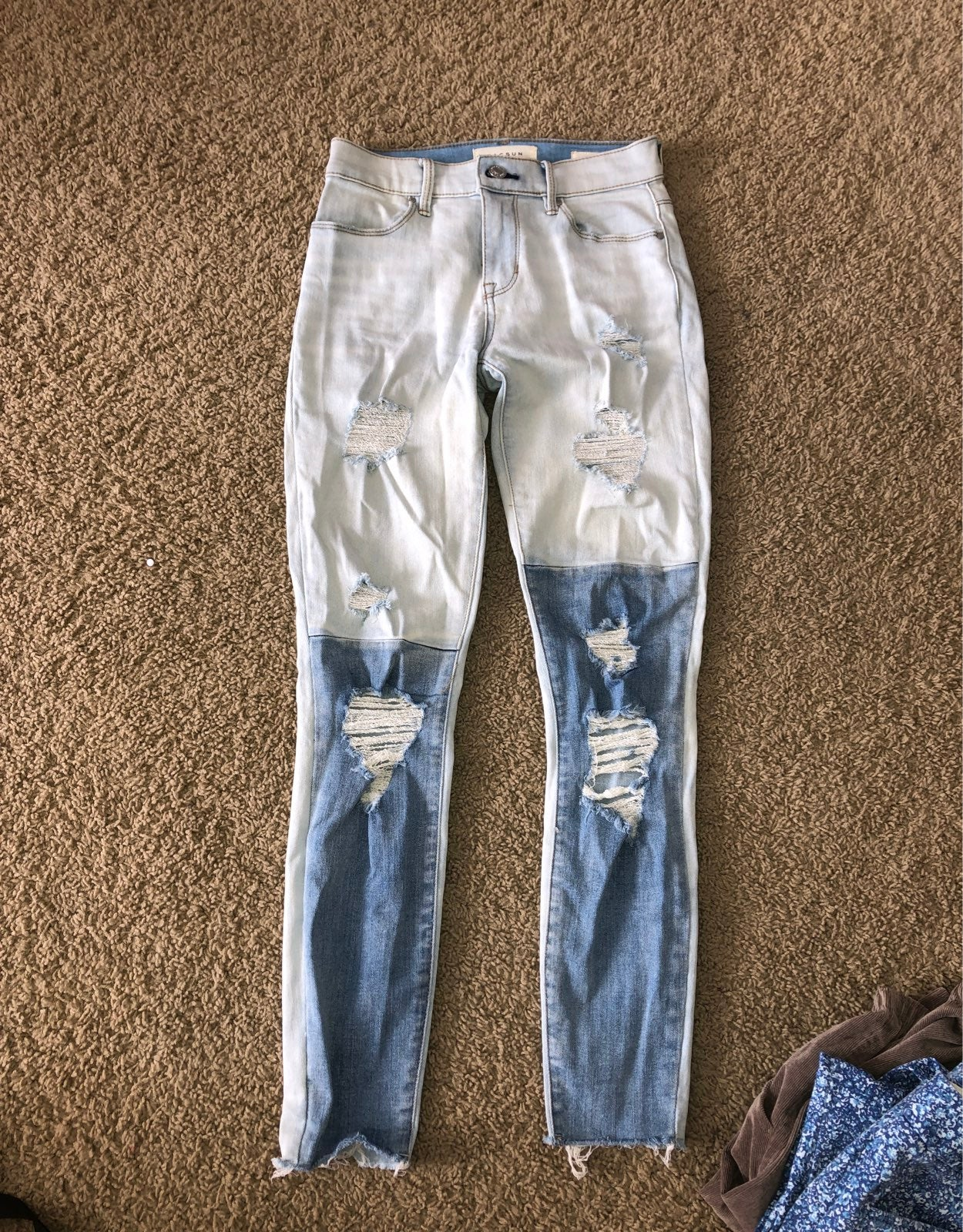 Pacsun two toned ripped jeans