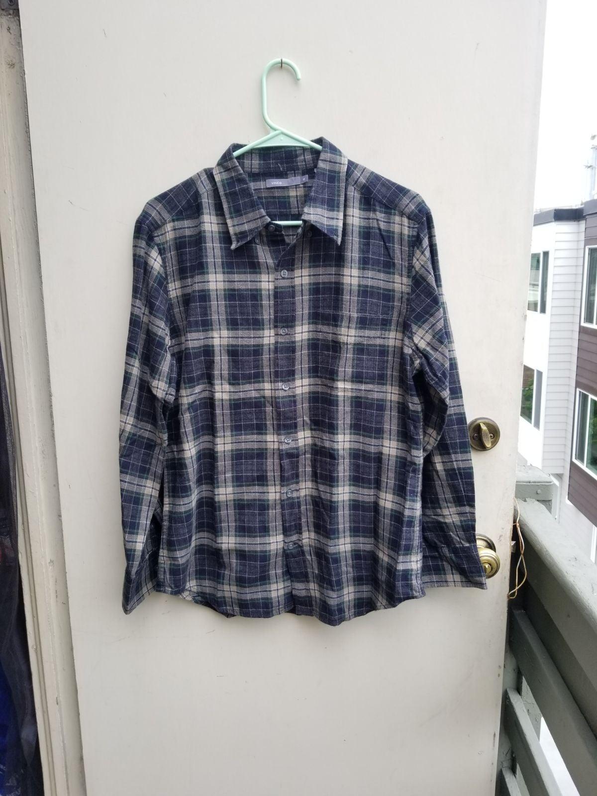 Vince Mens Flannel button down shirt