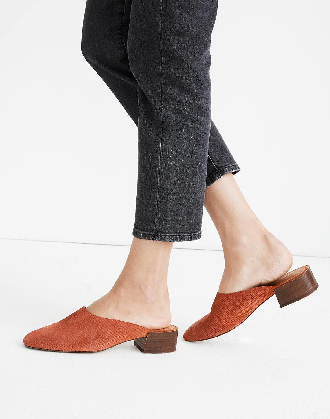 Madewell Mules Corduroy size 6