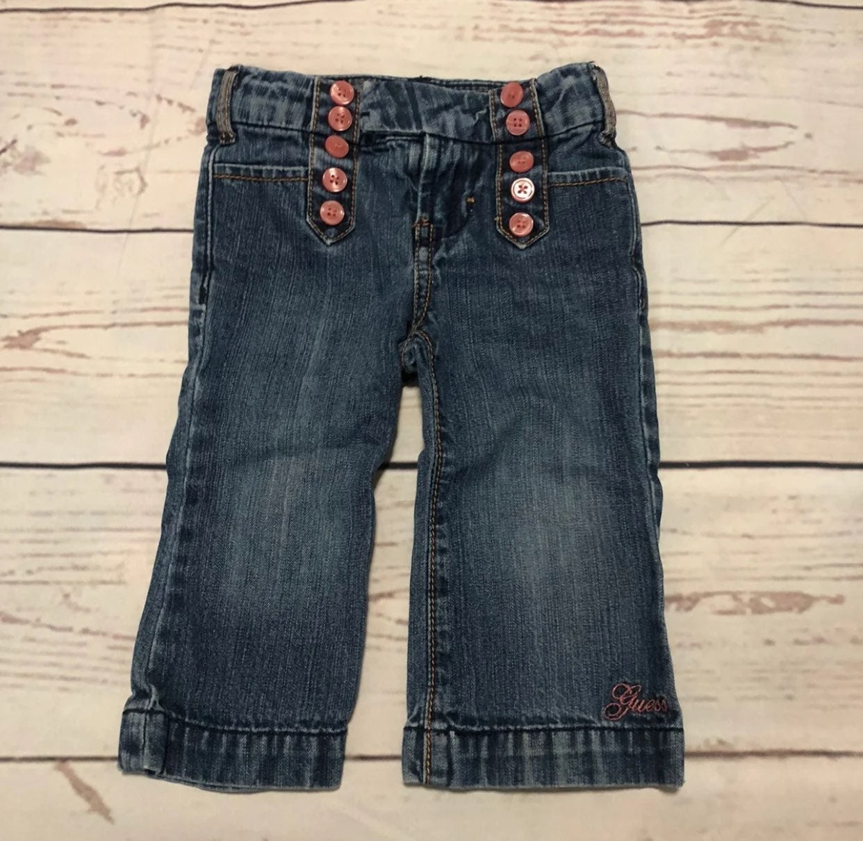 Guess jeans denim girl size 12M