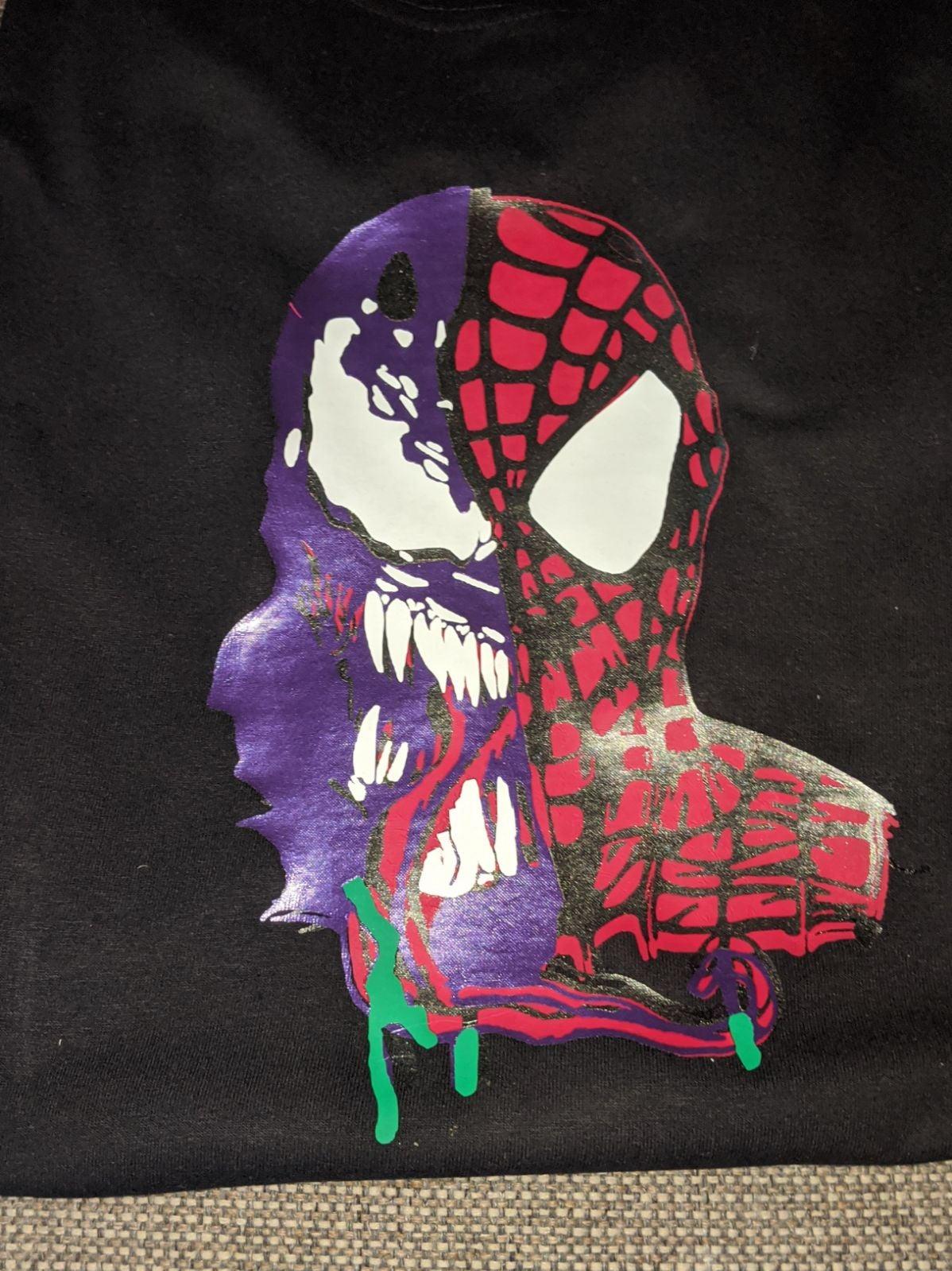 Custom Spider-Man venom shirr